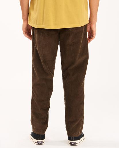 4 Wrangler Bowie Layback - Corduroy Trousers for Men Brown Z1PT20BIF1 Billabong