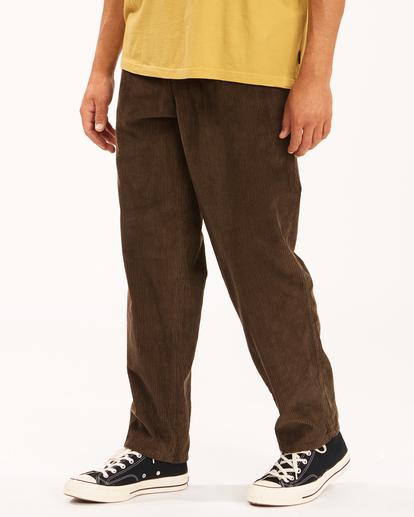 2 Wrangler Bowie Layback - Corduroy Trousers for Men Brown Z1PT20BIF1 Billabong
