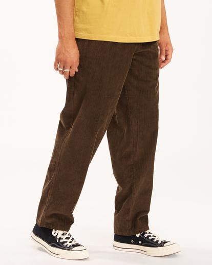 3 Wrangler Bowie Layback - Corduroy Trousers for Men Brown Z1PT20BIF1 Billabong