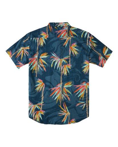 1 Sundays Floral - Camisa de Manga Corta para Hombre Azul Z1SH22BIF1 Billabong