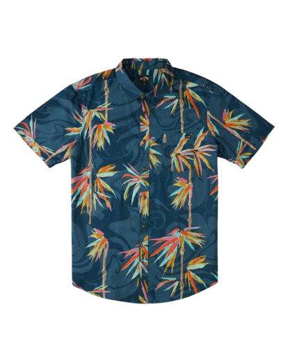 0 Sundays Floral - Camisa de Manga Corta para Hombre Azul Z1SH22BIF1 Billabong