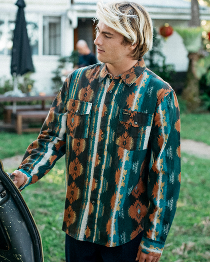 Wrangler Westward Twill - Long Sleeve Shirt for Men  Z1SH33BIF1