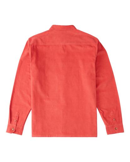 7 Wrangler Bowie - Camiseta de pana para Hombre Rojo Z1SH34BIF1 Billabong