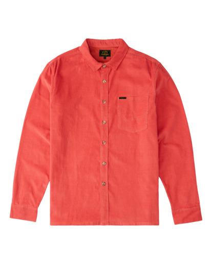 6 Wrangler Bowie - Camiseta de pana para Hombre Rojo Z1SH34BIF1 Billabong