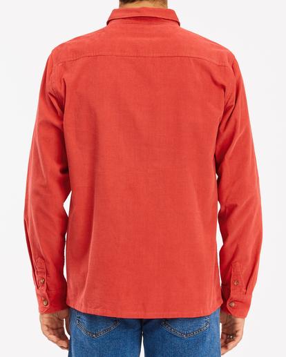 3 Wrangler Bowie - Camiseta de pana para Hombre Rojo Z1SH34BIF1 Billabong