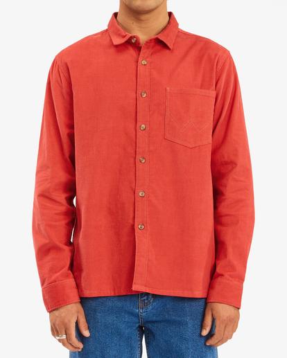 1 Wrangler Bowie - Camiseta de pana para Hombre Rojo Z1SH34BIF1 Billabong