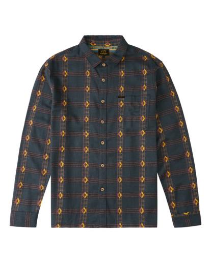 4 Wrangler Knox Jacquard Jacquard Flannel - Flanellhemd für Männer Grün Z1SH35BIF1 Billabong