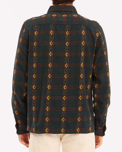 2 Wrangler Knox Jacquard Jacquard Flannel - Flanellhemd für Männer Grün Z1SH35BIF1 Billabong