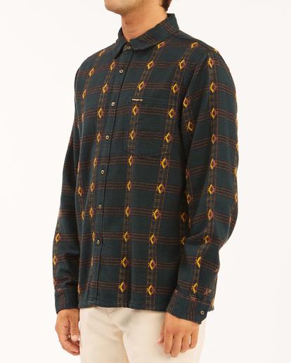 1 Wrangler Knox Jacquard Jacquard Flannel - Flanellhemd für Männer Grün Z1SH35BIF1 Billabong