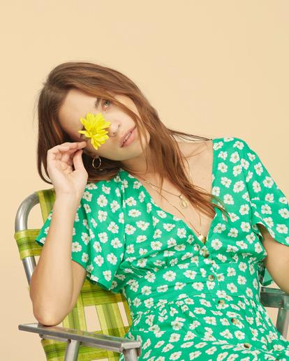 6 Wrangler Floral Dream - Robe midi pour Femme Vert Z3DR33BIF1 Billabong
