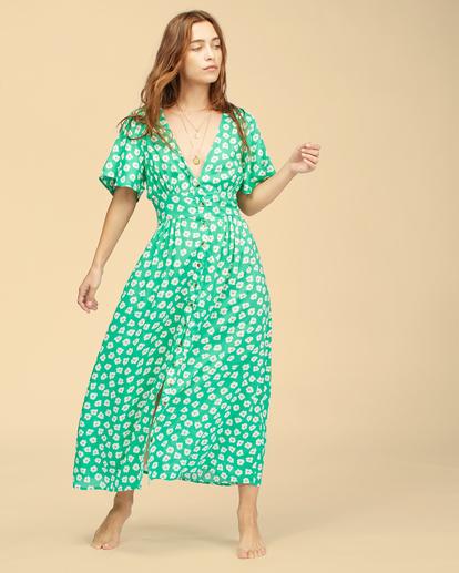 5 Wrangler Floral Dream - Robe midi pour Femme Vert Z3DR33BIF1 Billabong