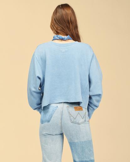 4 Wrangler Past Time - Sweat pour Femme Bleu Z3FL21BIF1 Billabong
