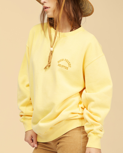 5 Wrangler Wayward - Sweatshirt for Women Yellow Z3FL22BIF1 Billabong