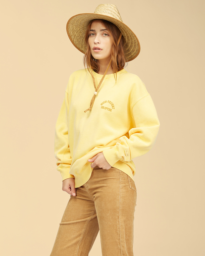 1 Wrangler Wayward - Sweatshirt for Women Yellow Z3FL22BIF1 Billabong