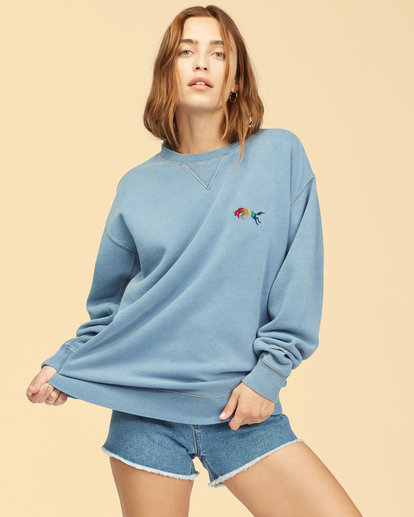 1 Wrangler Wayward - Sweatshirt für Frauen Blau Z3FL22BIF1 Billabong