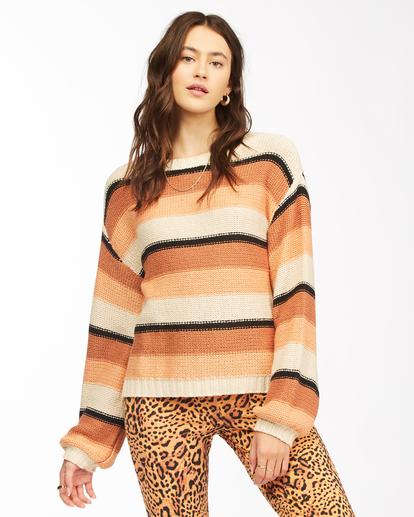 1 Seeing Double - Cropped Sweatshirt for Women Beige Z3JP27BIF1 Billabong