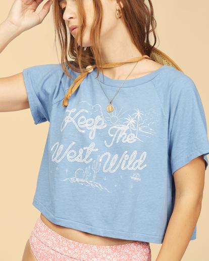 4 Wrangler Take It Back - T-shirt pour Femme Bleu Z3KT06BIF1 Billabong