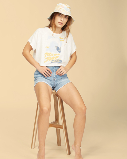 5 Wrangler Take It Back - T-Shirt für Frauen Weiss Z3KT06BIF1 Billabong