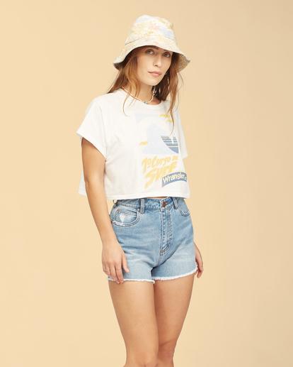 0 Wrangler Take It Back - T-Shirt für Frauen Weiss Z3KT06BIF1 Billabong