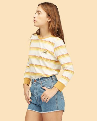 2 Wrangler Going Retro - T-shirt manches longues pour Femme Jaune Z3KT08BIF1 Billabong