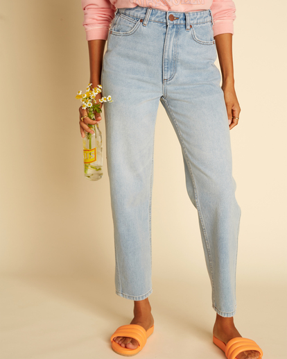 5 Wrangler She's Cheeky - Jean taille haute pour Femme Bleu Z3PN04BIF1 Billabong