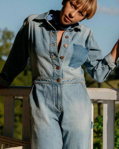 2 Wrangler On The Range - Combinaison en jean pour Femme Beige Z3PT01BIF1 Billabong