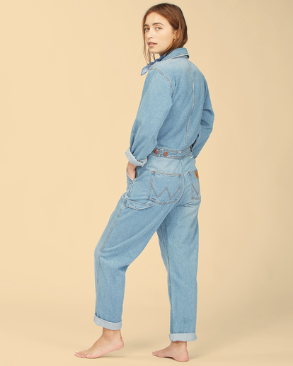 5 Wrangler On The Range - Combinaison en jean pour Femme Beige Z3PT01BIF1 Billabong
