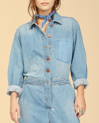 6 Wrangler On The Range - Combinaison en jean pour Femme Beige Z3PT01BIF1 Billabong