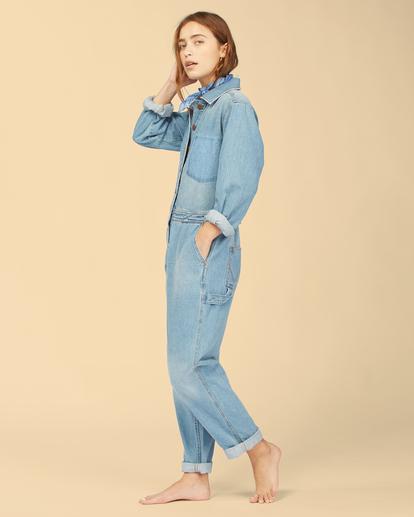 4 Wrangler On The Range - Combinaison en jean pour Femme Beige Z3PT01BIF1 Billabong