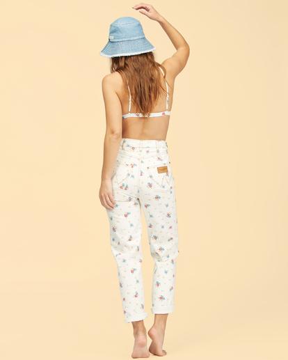 4 Wrangler Shes Cheeky - Jean taille haute pour Femme Blanc Z3PT08BIF1 Billabong