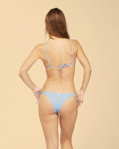 2 Wrangler Down With Denim Tie Side Isla - Braguita de bikini con cobertura mini para Mujer Beige Z3SB01BIF1 Billabong