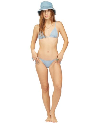 4 Wrangler Down With Denim Tie Side Isla - Braguita de bikini con cobertura mini para Mujer Beige Z3SB01BIF1 Billabong