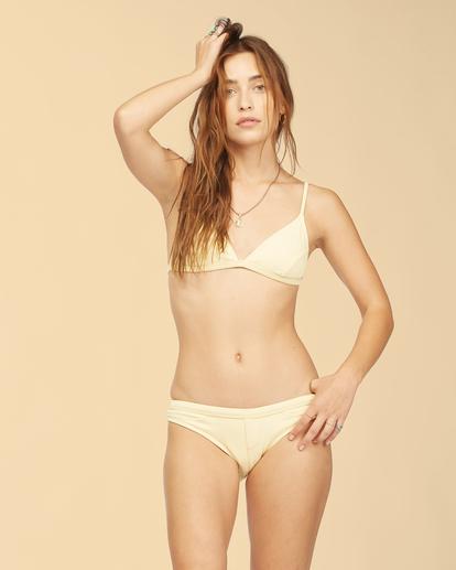 3 Wrangler Face The Sun Biarritz - Medium Coverage Bikini Bottoms for Women Yellow Z3SB03BIF1 Billabong