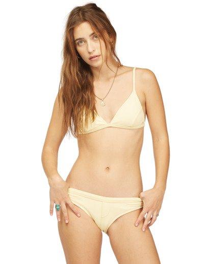 4 Wrangler Face The Sun Biarritz - Medium Coverage Bikini Bottoms for Women Yellow Z3SB03BIF1 Billabong