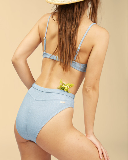 4 Wrangler Down With Denim - Top de bikini con aros para Mujer Beige Z3ST02BIF1 Billabong