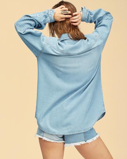 5 Wrangler Headed West - Long Sleeve Shirt for Women Blue Z3TP18BIF1 Billabong
