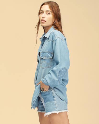 3 Wrangler Headed West - Long Sleeve Shirt for Women Blue Z3TP18BIF1 Billabong