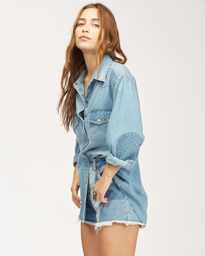 4 Wrangler Headed West - Long Sleeve Shirt for Women Blue Z3TP18BIF1 Billabong