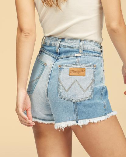 4 Wrangler Sun Up - High Waisted Denim Shorts for Women Multicolor Z3WK03BIF1 Billabong
