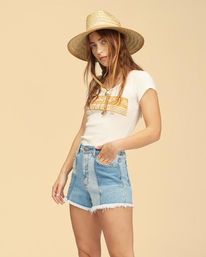2 Wrangler Sun Up - High Waisted Denim Shorts for Women Multicolor Z3WK03BIF1 Billabong