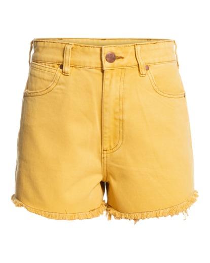 7 Wrangler Showdown - Short en jean taille haute pour Femme Jaune Z3WK04BIF1 Billabong