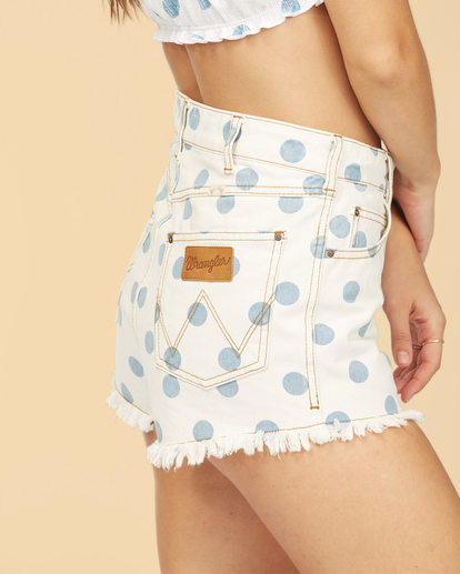 5 Wrangler Showdown - Short en jean taille haute pour Femme Multicouleurs Z3WK04BIF1 Billabong