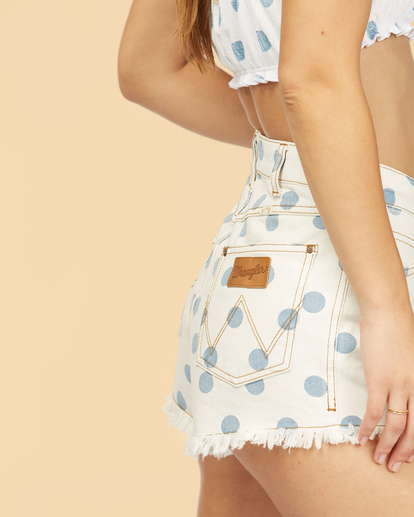 6 Wrangler Showdown - Short en jean taille haute pour Femme Multicouleurs Z3WK04BIF1 Billabong