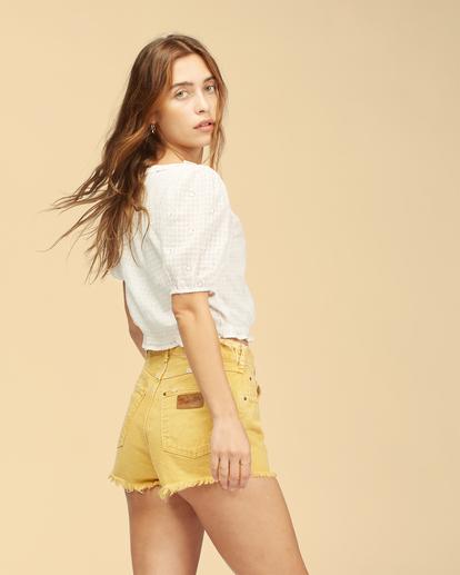 3 Wrangler Showdown - Short en jean taille haute pour Femme Jaune Z3WK04BIF1 Billabong