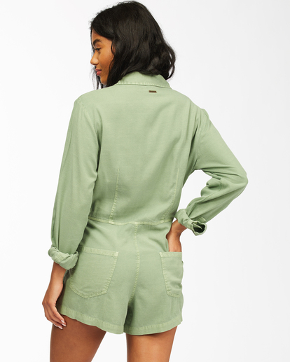3 Gigi Twill - Playsuit for Women Green Z3WK30BIF1 Billabong