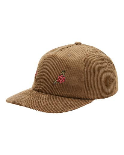 1 Wrangler Rose Garden - Strapback Cap for Men Brown Z5CS05BIF1 Billabong