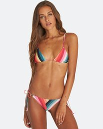Color Spell Tiny Triangle Bikini Top  J3ST08BIS8