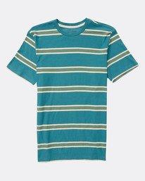Boys Die Cut Stripe Jersey T-Shirt  L2JE01BIF8