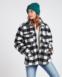 Pretty Wild Cozy Buffalo Plaid Jacket  L3JK09BIF8