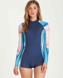 2/2 Spring Fever Long Sleeves Back Zip Springsuit Wetsuit  L42G03BIF8